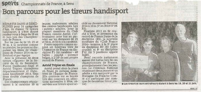 Article Est France Tir STB
