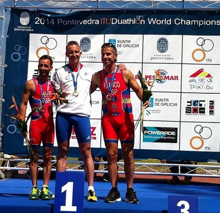 Podium Travadon Monde Duathlon 2014